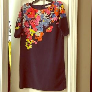 Floral navy dress